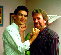 With Chuck Norris.