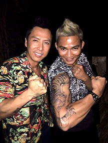 "Tony Jaa with Donnie Yen on the set of ""XXX: The Return of Xander Cage"""