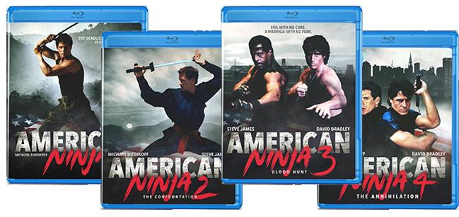 American Ninja 1-4 | Blu-ray & DVD (Olive Films)