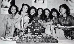 """Eriko Tanaka, Ai Matsubara, Miki Jinbo, Kimiko Ikegami, Kumiko Ohba, Masayo Miyako and Mieko Sato of """"House"""""""