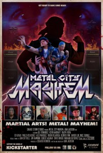 """Metal City Mayhem"" Promotional Poster"