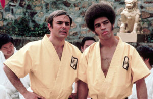 With John Saxon in Enter the Dragon.