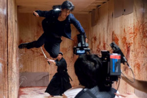 Hayate in action in Karate Kill.