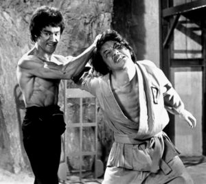Two of Zaror's biggest influences are in this photograph from Enter the Dragon.