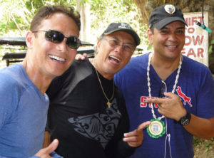 Mark Dacascos, Al Dacascos and Sonny on the set of Showndown in Manila.