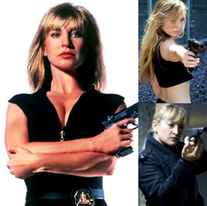 """""""Atomic-er"""" blondes: Cynthia Rothrock, Amy Johnson and Zoe Bell."""