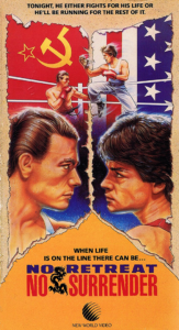 """No Retreat No Surrender"" VHS Cover"